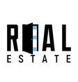 Logo template real estate apartment condo house vector image