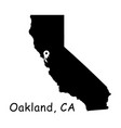 1312 oakland ca on california state map vector image vector image