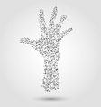 Abstract human hand from dots and lines vector image vector image