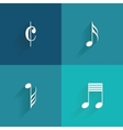 Abstract Music symbol vector image vector image