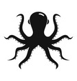 back of octopus icon simple style vector image