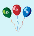 balloons with snowflakes vector image vector image