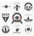 Beer pub set Beer festival Oktoberfest Brewing vector image vector image