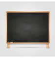Black chalk board vector image