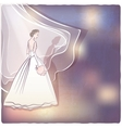 bride in wedding dress vector image vector image