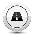 Button with road vector image vector image