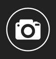 camera icon logo on black background flat vector image vector image
