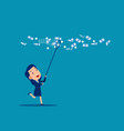 catch moneys business financial vector image vector image