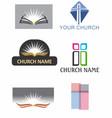 church logos 1 vector image vector image