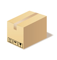 Closed cardboard box isolated in format vector image