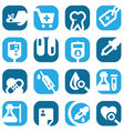 color medical icons set vector image