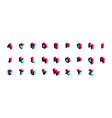 creative style isometry tik tok 3d alphabet vector image vector image