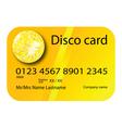 credit card disco vector image vector image