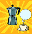 electric coffee pot and cup vector image
