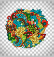 ethnic circular pattern on transparent background vector image vector image