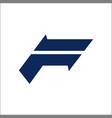 f logo initial letter logo design template vector image vector image