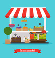 Farmers market Local market Fruit and vegetables vector image