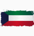 flag of kuwait grunge vector image vector image