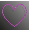 Frame Pink sequins Heart Glitter sparkle vector image vector image