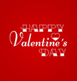 Happy Valentines Day Greeting Card on red vector image vector image