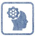 head gear fabric textured icon vector image vector image