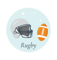 helmet and ball for rugby vector image vector image