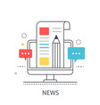 hot news concept vector image