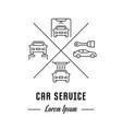 line banner car service vector image