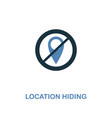 location hiding icon in two colors premium design vector image vector image
