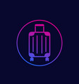 luggage bag icon with gradient vector image vector image