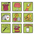 Magic tricks collection vector image