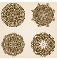 Mandala ornament set vector image