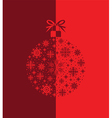 merry christmas red vector image vector image