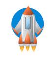 metallic futuristic spaceship vector image vector image
