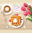 mothers day flatlay composition vector image vector image