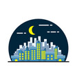 night city landscape flat design vector image
