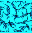 pattern of blue curls on a blue background vector image vector image