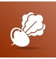 Radish abstract isolated logo beetroot food vector image vector image