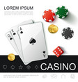 realistic casino top view concept vector image