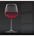 Realistic glass of red wine vector image vector image
