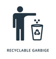 recycling garbige icon flat style icon design ui vector image vector image