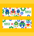 robotics creation icons set of banners vector image