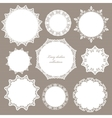 Round lacy doilies set Decorative frames vector image