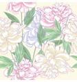 Seamless pattern pink with peonies vector image vector image