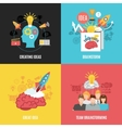 Set Of 2x2 Brainstorm Compositions vector image vector image