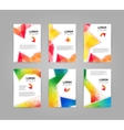 Set of modern geometric triangular and other vector image