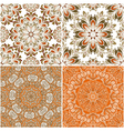 set round seamless patterns vector image