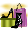 shoes shopping vector image