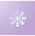 Single Paper Snowflake vector image
