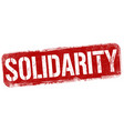 solidarity grunge rubber stamp vector image vector image